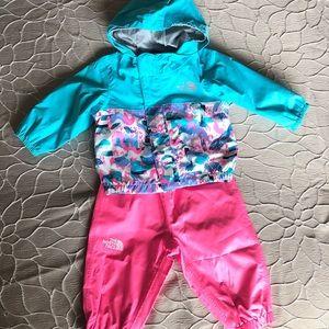 North Face Rain Gear (baby girl)